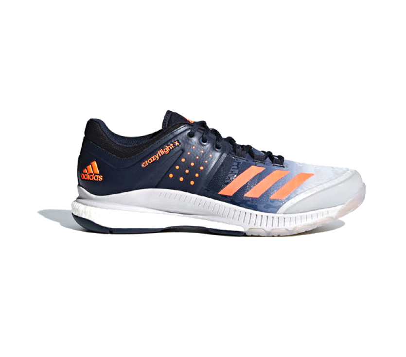 adidas Crazyflight X - dark blue/light grey/lite orange