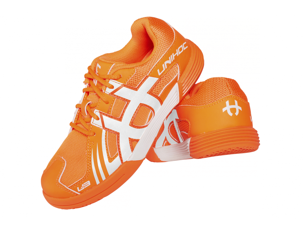 Shoe U3 Junior Unisex  orange/white - Unihoc