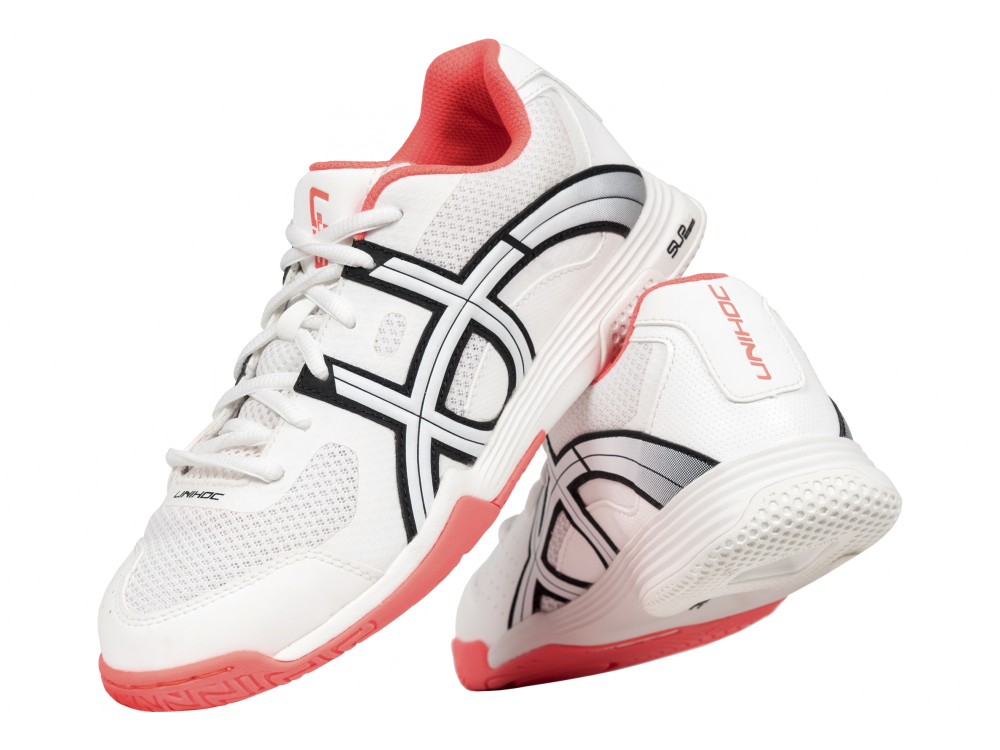 Shoe U3 Elite Lady white/coral - Unihoc