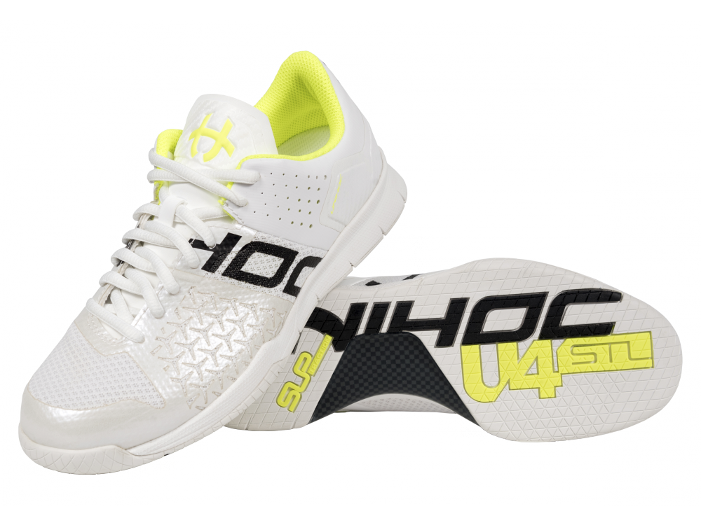 Shoe U4 STL LowCut Lady white/yellow - Unihoc