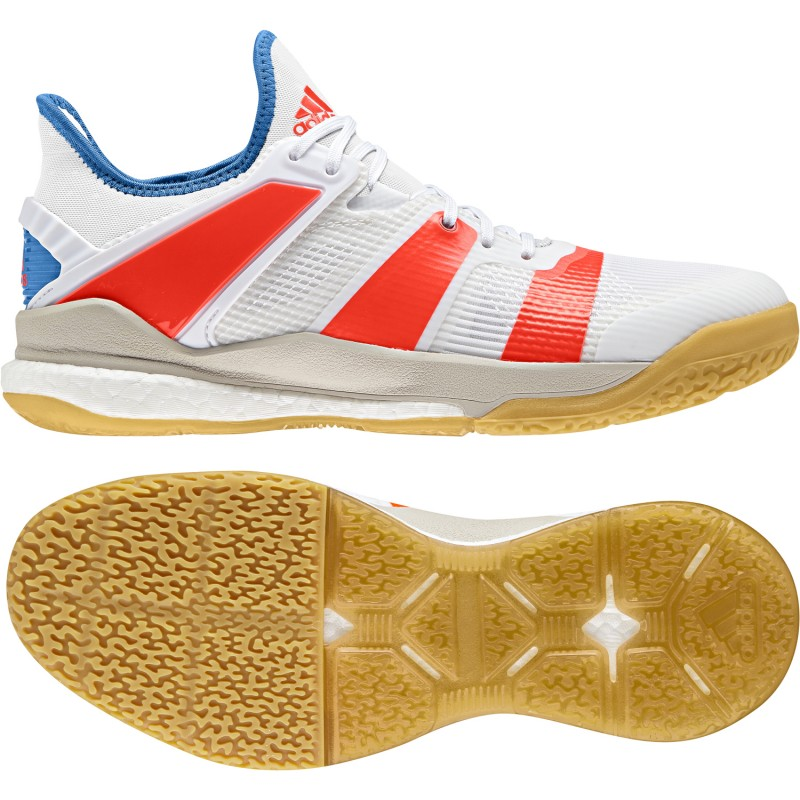 Obuv Stabil X ftwr white/solar red/bright blue - Adidas