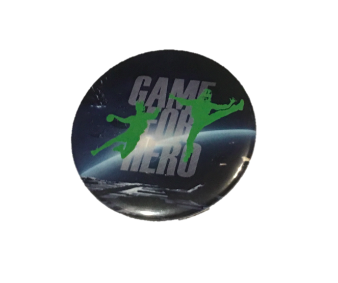 "Placka se špendlíkem ""GAME FOR HERO"" moon - handballeshop.eu"