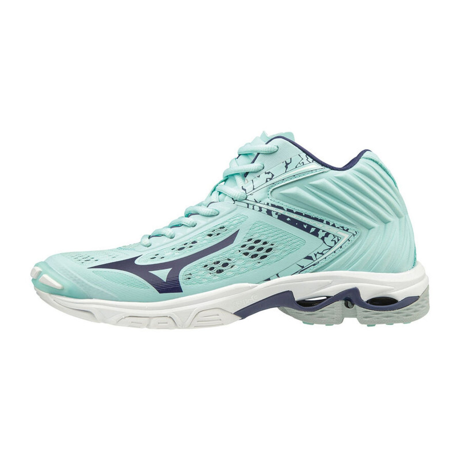 AKCE Mizuno - WAVE LIGHTNING Z5 MID / Blue Light / Astral Aura / Blue Turquoise